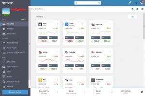 eToro online trading platform